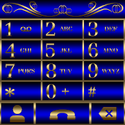 Abctract Blue EX Dialer theme 1.2
