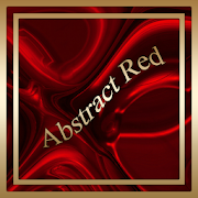 Abstract Red Go SMS theme 3