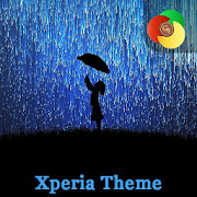 Girl in the neon rain | Xperia™ Theme 1.0.0