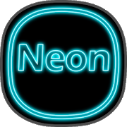 Neon icon pack ligth Blue theme  top to 2019 10icon pack