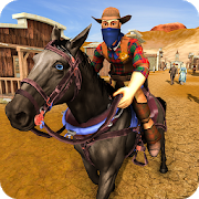 Wild West Town Sheriff Mounted Horse Shooting Game 1.3