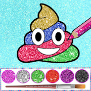 Glitter Emoji Coloring And Drawing 8.2