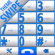 THEME SWIPE DIALER  BIG WHITE BLUE 766k