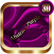 Abstract Purple 3D Next Launcher theme 1.2