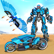 Flying Police Eagle Bike Robot Hero: Robot Games 20