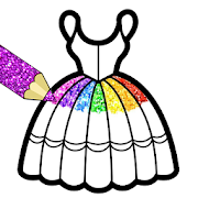 Glitter Dresses Coloring Book For Kids 4.0