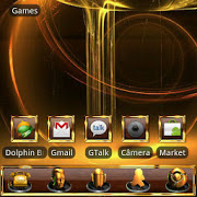 GOLD Go Launcher EX theme 1.15