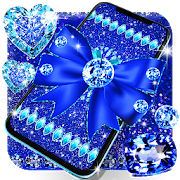 Blue glitter diamond bow live wallpaper 16.0