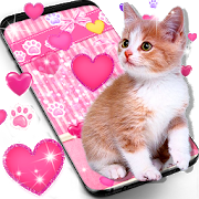 Cute pink kitty live wallpaper 16.0