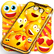 Funny smiley face emoji live wallpaper 16.0