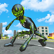 Panther Stickman Rope Hero City Crime Survival 1.3