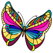 Butterfly Paint by Number Book – Animals Coloring 3.0