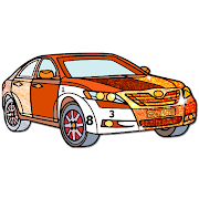 Cars Paint by Number – Glitter + Crayon Color Book 3.3