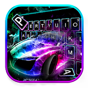 Color flame Sports Car Keyboard 1.0