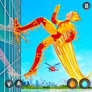 Flying Fire Hero Police Robot: Gangster Chase Game 5.1 and up